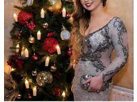 Rosie's Closet Grey Lace Formal Dress Size 6/8