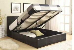 Clearance: brand new gas lift leather bed start from $295 only Campsie Canterbury Area Preview