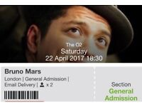 Bruno Mars tickets 2X