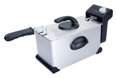 Elektro Fritteuse  2,3 kW, 3 Liter,  240x435 mm - Edelstahl - 3 Kw Single