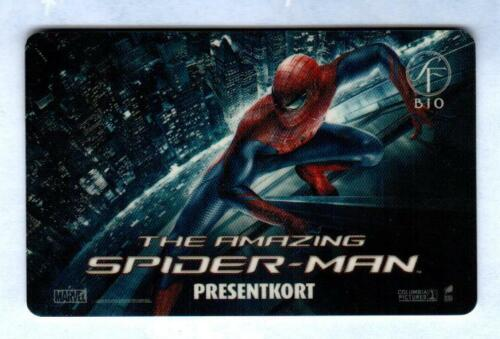 SF BIO ( Sweden ) The Amzing Spider-Man MARVEL 2012 Gift Card ( $0 )