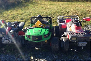 Wanted broken/unused 12v and 24 volt rides (gas powered to)