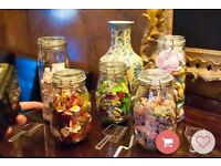 Storage jars ideal for weddings as sweetie jars