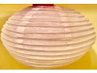 PAPER BAMBOO LANTERNS OVAL SHAPE 45 In Total BNIB