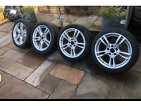 "18"" Genuine Bmw 400m Alloy Wheels Alloys With Tyres Staggered 1 3 5 Series 403"