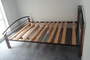 Queen bed frame for sale, can deliver