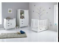 Obaby sleigh cotbed & changing unit