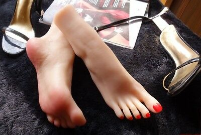 1pc Realistic Soft Silicone Female Leg Mannequin Model Foot Display Shoes Prop