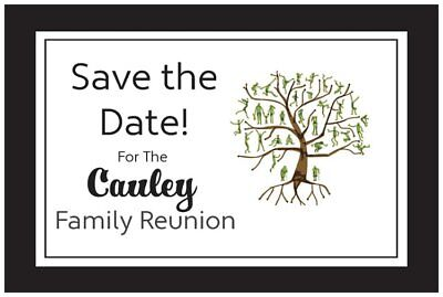 50 100 Personalized  Family REUNION Save the DATE Post CARDS 7 Color - Family Reunion Save The Date