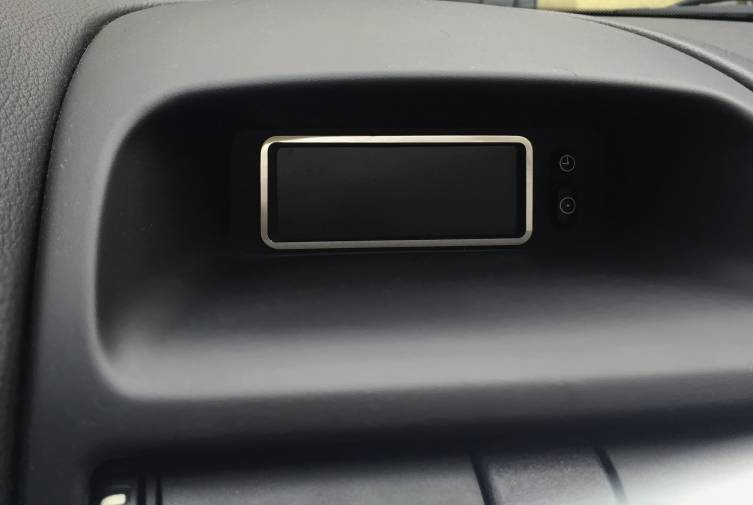 Edelstahl poliert D Opel Corsa D Chrom Rahmen für Display