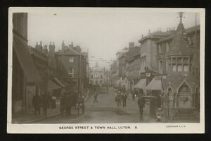 Beds-LUTON-George-St-Town-Hall-early-RP-PPC