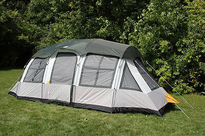 Tahoe Gear Prescott 12 Person 3-Season Instant Outdoor Family Camping Cabin Tent
