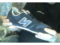 2 pairs of PRISTINE adidas kiel navy size 6 1/2 and new balance 373 navy size 7 trainers