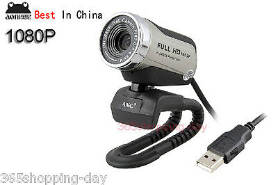 100% ANC 1080P Full HD USB PC LAPTOP Camera,webcam Built-in Mic,Night Vision