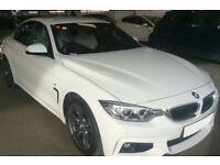 White BMW 420d M Sport Convertible Auto FROM £114 PER WEEK!
