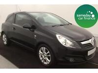 £107.98 PER MONTH BLACK 2010 VAUXHALL CORSA 1.2 16v SXI PETROL MANUAL
