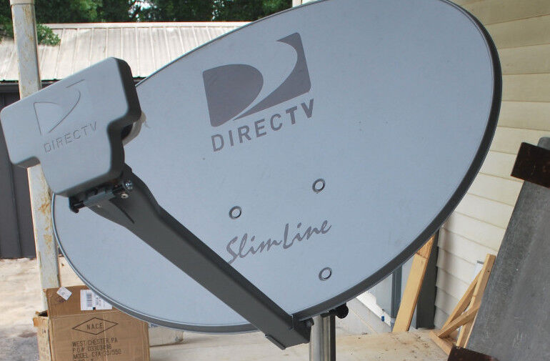 Directv Swm 3lnb Slimline Kaku Dish Sl3 Mpeg4 Hd Long Foot Monopole 21v 8way New