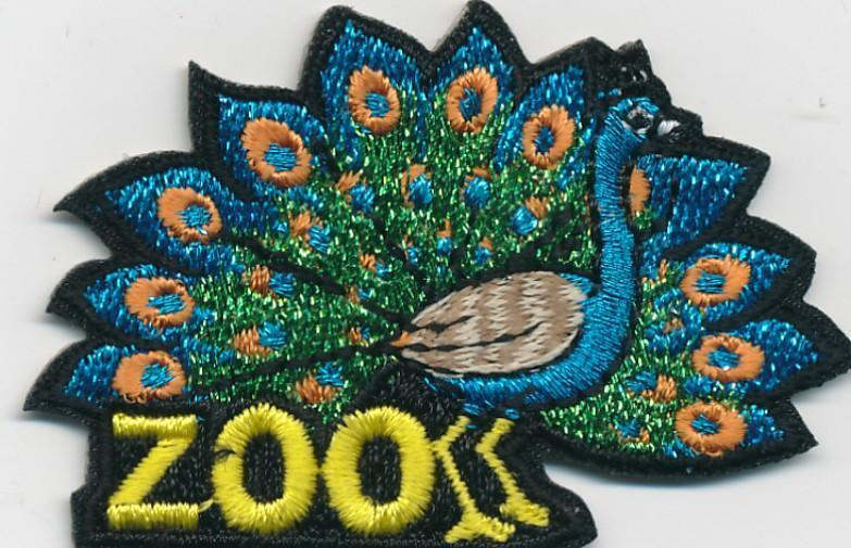 Girl Boy Cub ZOO TRIP Peacock Fun Patches Crests Badges SCOUT GUIDE Visit Tour