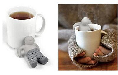 Silicone Mr.Tea Infuser Loose Tea Leaf Strainer ...