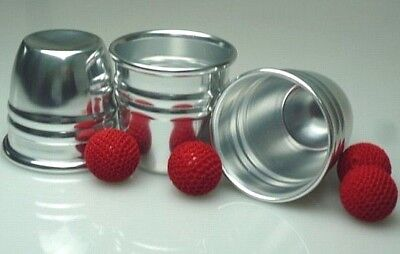 CUPS AND BALLS & CHOP CUP 2 RIDGE HIGH QUALITY w/EXTRAS & FREE DAI VERNON BOOK Chop Cup Balls