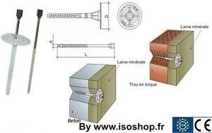 Chevilles a frapper Isolation Maconnerie Beton ATE 8x160 mm 100 pieces
