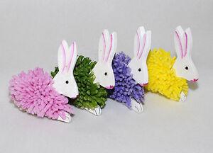 Deco coniglio piccolo glitterato per decorazioni - Decorazioni primaverili per finestre ...