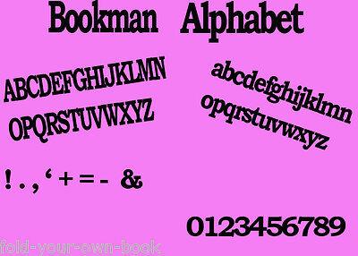 Folded book art folding PATTERN Full Alphabet **INTRODUCTORY OFFER**