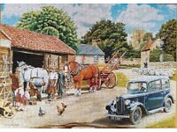 1000 PIECE WHSMITH'S PUZZLE - PASSING THE SMITHY - EXCELLENT CONDITION