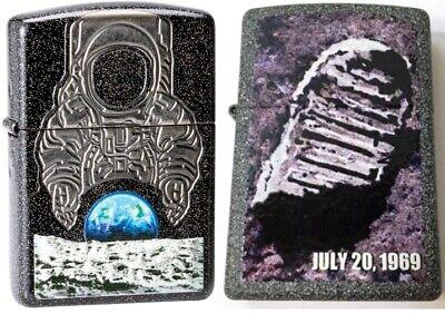 50th Anniversary Collectible - ZIPPO Collectible 50th Anniversary Moon Landing 2 Lighter Set PLANETA 29862 L@@K