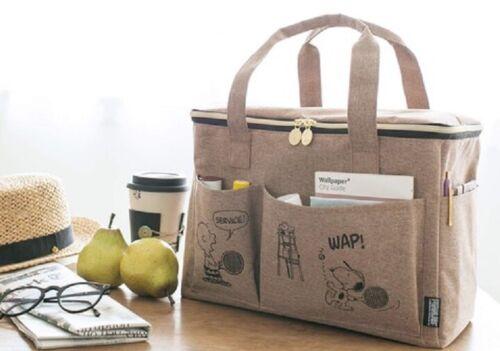 SNOOPY PEANUTS Brown Multi Purpose Picnic Bag from Japan Magazine