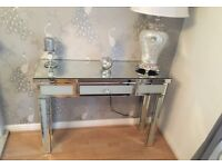 Two mirrored console tables excellent condition