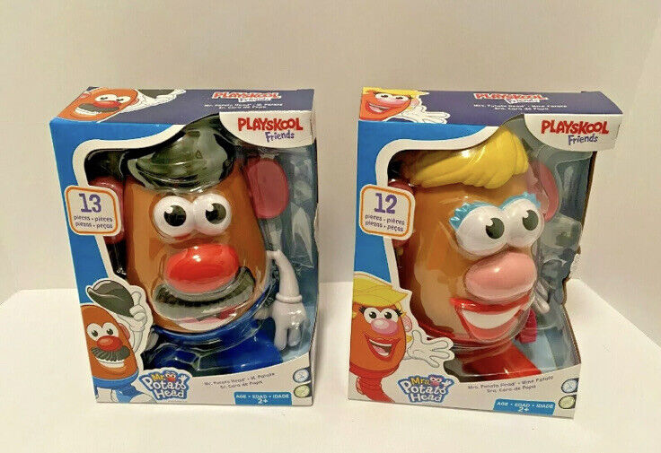 Mr. & Mrs. Potato Head (Playskool Friends) Complete Set DISCONTINUED NEW/SEALED