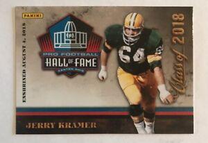 Jerry Kramer Panini Pro Football Hall of Fame Class 2018 HOF Green Bay Packers