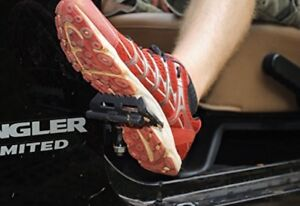 Jeep Wrangler foot rest pegs.