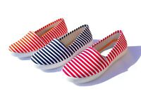 338 pairs of Ladies Striped Canvas Pumps- New and boxed