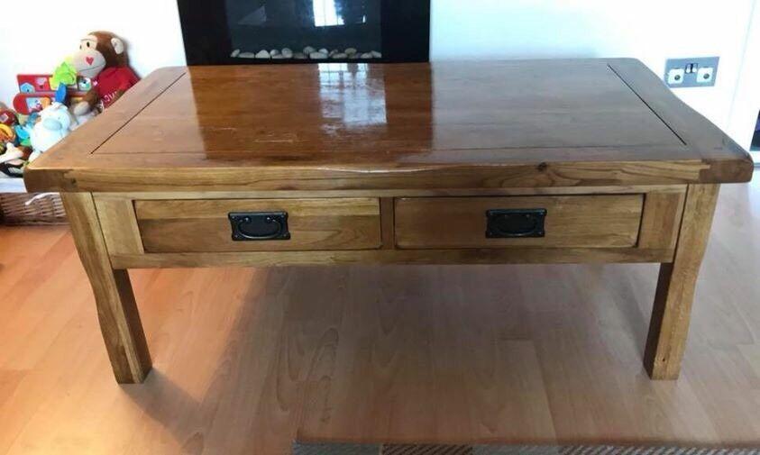 Oak furniture land solid oak coffee table