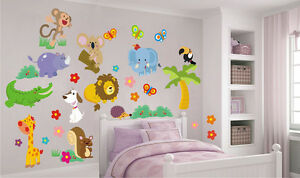 Animaletti adesivi murali stickers cameretta bambini - Adesivi per mobili bambini ...