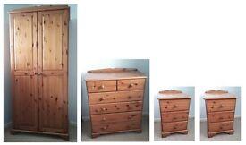Solid Pine Bedroom Furniture Set