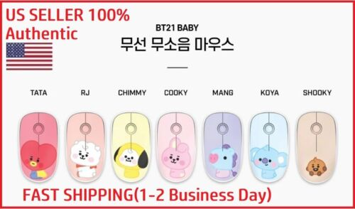 BTS x BT21 Official Baby Wireless Silent Mouse by ROYCHE