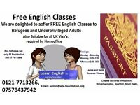 Free English Classes suitable for UK Immigration (Only Birmingham)