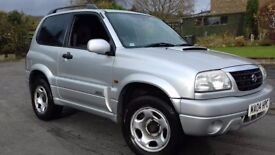 2004 SUZUKI GRAND VITARA 2.0 DIESEL. 4X4. LOW MILES LONG MOT