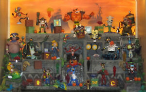 Crash Bandicoot and other action figures and merchandise