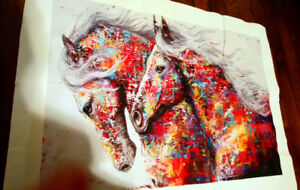COLOURFUL HORSE PAINTING