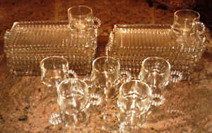 Vintage Boopie Glass snack plate and tea cup luncheon set
