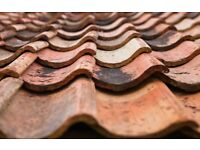 Single pan red clay roof tiles
