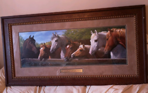 Large Horse Painting in Beautiful Frame