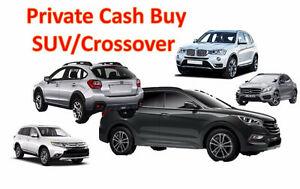I want to BUY your used SUV/Crossover 2006-2013 Under 10K only