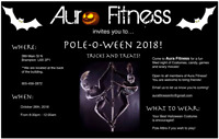 FREE Social night! Pole-O-Ween at AURA FITNESS in Brampton