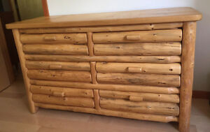 Custom Made LOG 6 drawer large dresser