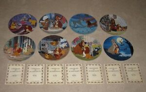 Disney's Lady & the Tramp Complete Collector Plate Series